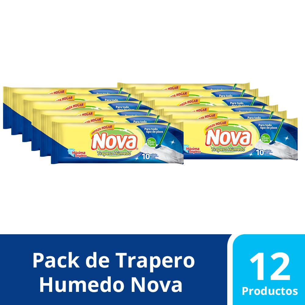 Pack Trapero Humedo Nova Con ojal 12 paq 10 un